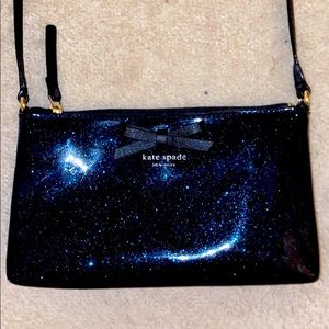 Kate Spade Amy Macis Blue Sparkle Crossbody Bag